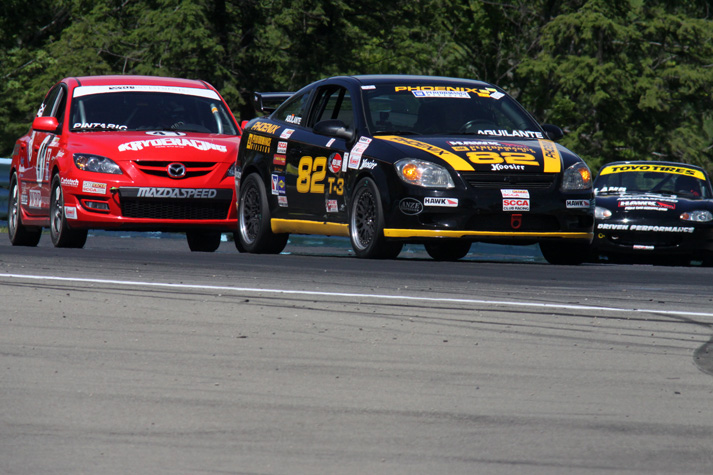 Touring Cars in Turn 9 at the Glen